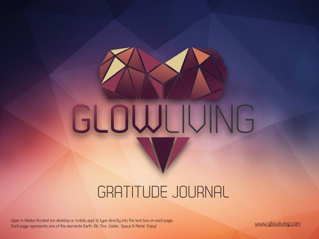 Free Gift – Download the Glow Living Gratitude Journal