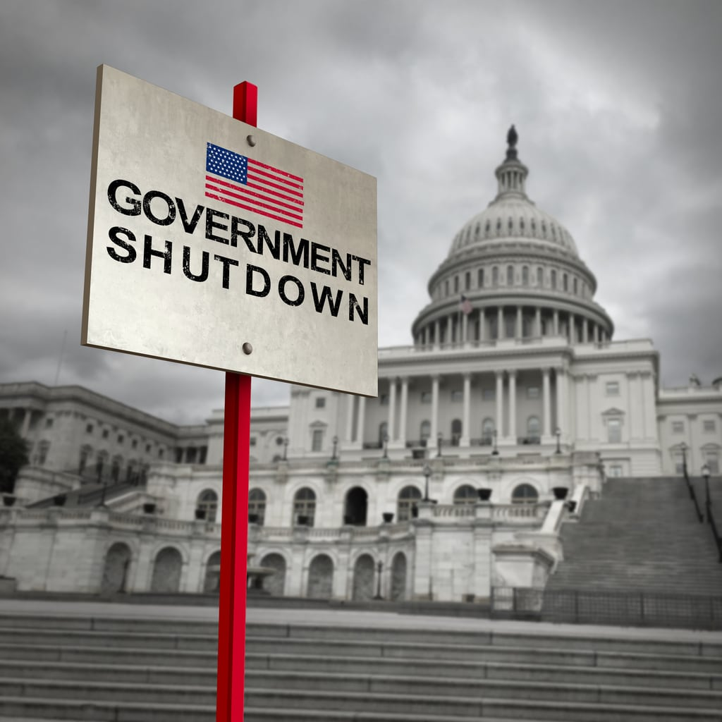 government shutdown tax