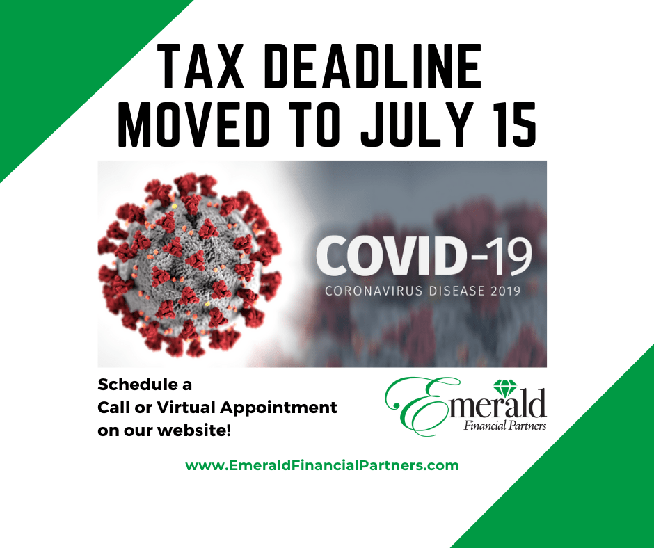 tax deadline moved to 7/15/20