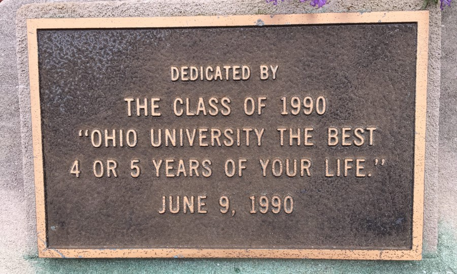 Ohio University Class of 1990 gift - the best 4-5 years of your life.