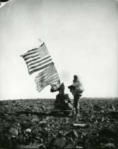 Peary on Navy Cliff, July 4th, 1892 (U.S. National Archives)