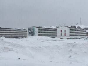 """Decades ago, many Inuit families were """"moved"""" to large public housing blocks in the small capital city of Nuuk."""