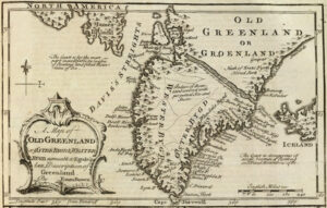 Old Greenland map from 1747