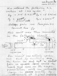 Lab notebook on transistor
