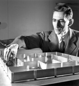 Claude Shannon with his mouse