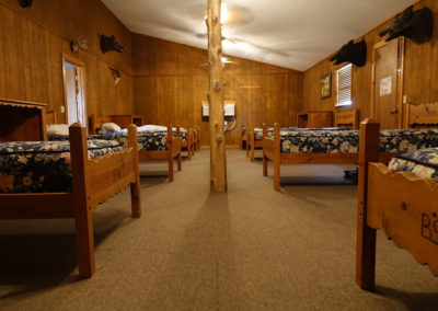 Sleeping quarters with extra long twin beds