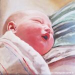 Baby Riley painting by Lori Thompson