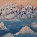 Snow Top Mountains painting by Lori Thompson