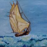 Majestic Seas painting showing a schooner on the sea