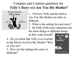Resources for parents and teachers Comparing and Contrasting Telly and Are You My Mother black & white