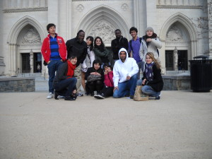 ILI students in front of the National Cathedral
