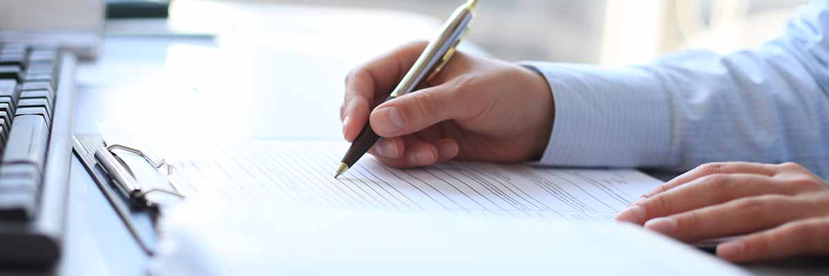 person completing documents