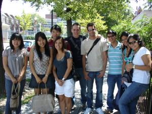 ILI students on the Dupont Circle walking tour