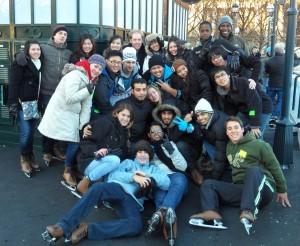 ILI students iceskating