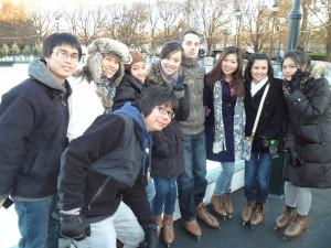 ILI students at ice rink