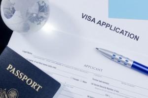 US visa application and passport