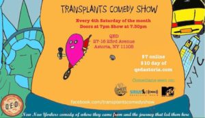 Transplants Comedy Show @ Qed A place to show and tell | New York | United States