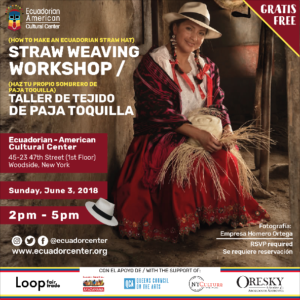 Straw Hat Weaving Workshop @ Ecuadorian-American Cultural Center | New York | United States