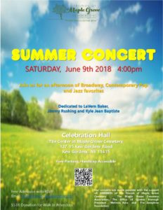 Summer Concert in Kew Gardens @ The Center at Maple Grove Cemetery | New York | United States