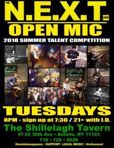 The N.E.X.T. Open Mic: Tuesday night at Shillelagh Tavern @ Shillelagh Tavern