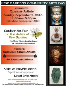 Kew Gardens Community Arts Day 2018 @ Kew Gardens, Austin Street, Lefferts Blvd, neighboring streets