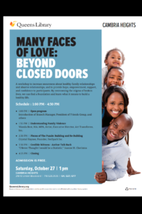 Many Faces of Love: Beyond Closed Doors @ Cambria Heights Public Library | New York | United States