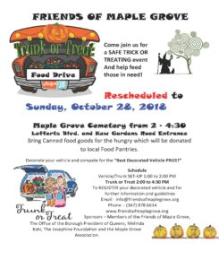 TRUNK OR TREAT rescheduled at Maple Grove in Kew Gardens @ Maple Grove Cemetery | New York | United States