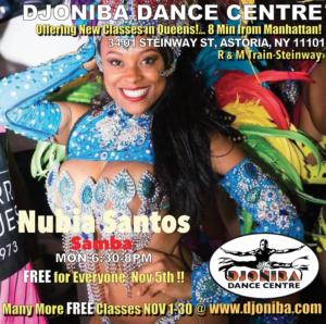 FREE Brazilian Samba Class @ Djoniba Centre @ Djoniba Centre @ RIOULT Dance Center | New York | United States