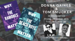 Why The Beach Boys Matter & Why The Ramones Matter? @ The Astoria Bookshop | New York | United States
