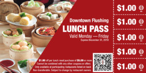"""Eat more Save more"" Lunch Pass Program @ Downtown Flushing BID 