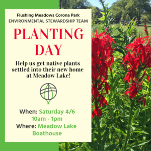 Planting Day at FMCP @ Meadow Lake Boathouse | New York | United States
