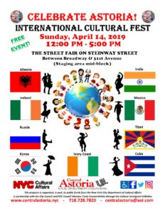 5th Annual Celebrate Astoria! International Cultural Fest!!! @ Street Fair on Steinway Street | New York | United States