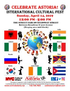 International Cultural Fest!! @ Steinway Street (Between Broadway & 31st Avenue) Astoria, NY 11103 | New York | United States