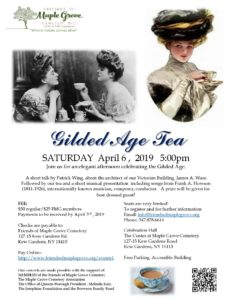 Gilded Age Tea in Kew Gardens @ The Center at Maple Grove  | New York | United States