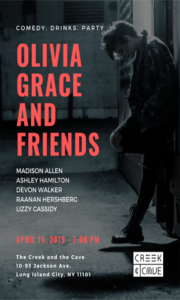 Olivia Grace & Friends @ The Creek and The Cave | New York | United States