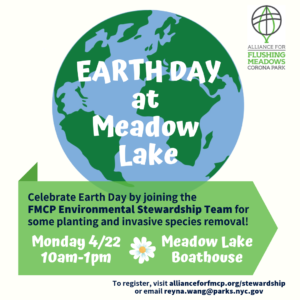 Earth Day at Meadow Lake @ Meadow Lake Boathouse at Flushing Meadows Corona Park | New York | United States