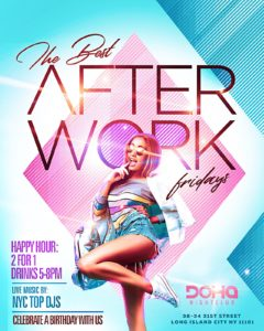 The Happy Hour After Work Party at Doha Nightclub @ Doha nightcub | New York | United States