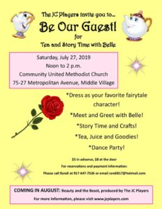 Tea and Story Time with Belle @ Community United Methodist Church | New York | United States