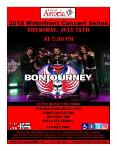 2019 Waterfront Concert Series: BonJourney! @ Astoria Park Great Lawn