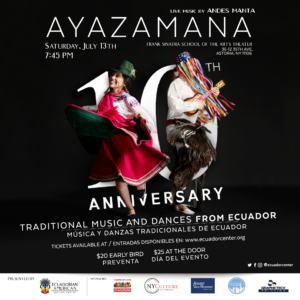 Ayazamana: Traditional Music and Dances From Ecuador @ Frank Sinatra School Of The Arts Theatre   |  |  |