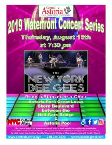 2019 Waterfront Concert Series!  The New York Bee Gees! @ Astoria Park Great Lawn