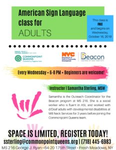American Sign Language Class for Adults @ M.S. 216 George J. Ryan | New York | United States