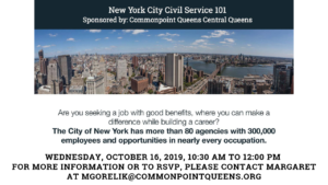 NYC Civil Service Jobs Info Session @ Commonpoint Queens Central Queens | New York | United States
