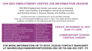 1199 SEIU Employment Center Job Information Session @ Commonpoint Queens Central Queens | New York | United States