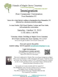 Free Community Conversation on Immigration in Kew Gardens @ Victorian Admin Building at Maple Grove Cemetery | New York | United States