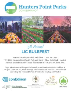 5th Annual LIC Bulbfest @ Hunters Point South Park & Gantry Plaza State Park | New York | United States