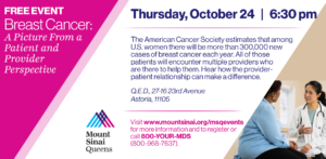 Breast Cancer: A Picture From a Patient and Provider Perspective @ Q.E.D. | New York | United States