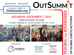 OutSummit One Day Conference for LGBTI Human Rights @ CUNY School of Law | New York | United States