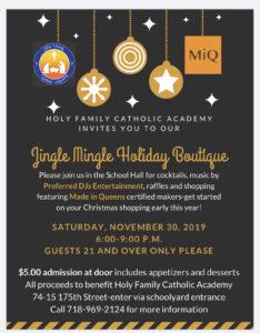 Jingle Mingle holiday boutique @ Holy family Catholic Academy | New York | United States