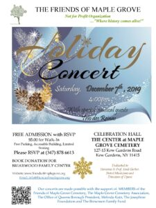 Free Holiday Concert at Maple Grove in Kew Gardens @ The Center at Maple Grove | New York | United States